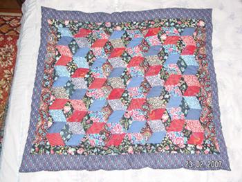Детское лоскутное одеяло, размер 92х102