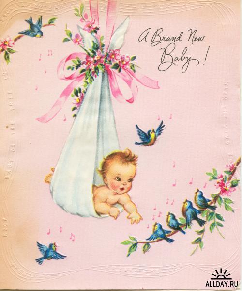 Поздравить с рождением дочери в открытках